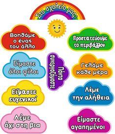 Preschool Projects, Preschool Worksheets, First Day Of School, Back To School, Diy And Crafts, Crafts For Kids, Greek Language, Pre Kindergarten, Kids Learning Activities