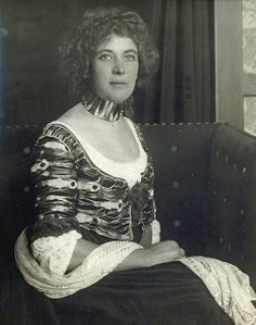 Sonia Knips - photographed at the Floge Salon in a Reform dress and collar designed for her by Koloman Moser, c. 1904