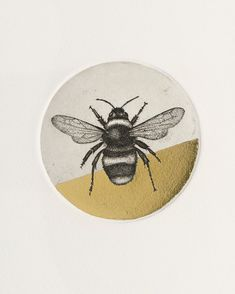 In honour of #WorldBeeDay - the utterly perfect 'Bumblebee' (etching & gold leaf print) by @guy_allen_artist 🐝 - Find it at forartssake.com