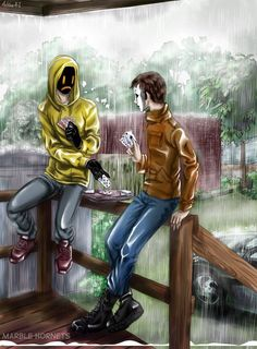 Masky and hoodie marble hornets I wonder if this is a normal thing for them