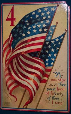 Vintage Fourth of July Postcard -- [Photograph by riptheskull (Dave) - July 4 2007]'h4d'121130