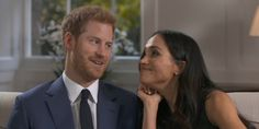 Watch Prince Harry and Meghan Markle joking around when the mics were off after their engagement interview