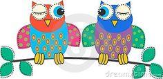 Flirting Owls