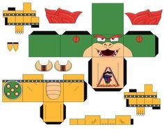 Bowser Mario Bros 2 - cubeecraft / papercraft by MarcoKobashigawa on DeviantArt Mehr Super Mario Bros, Super Mario Birthday, Super Mario Party, Mario Crafts, Diy Paper, Paper Crafts, Paper Mario, Mario Brothers, Card Maker