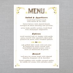ICE CREAM SOCIAL • Rustic Romance • Ready-Made Collection Shoppe: Menu • Letterpress • 2 styles • Register & receive FREE SHIPPING off your 1st Order :)