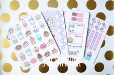 Donuts & Sweets theme PLANNER STICKERS KIT 4 by STICKWITHMEshop