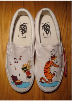 calvin and hobbes painted shoes 11f6ef65d