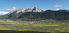 View looking across town from the Ski Area on Mt Crested Butte