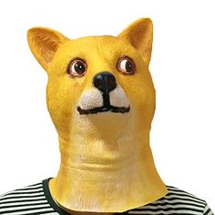 XIAO MO GU Latex Halloween Costume Decorations Animal Head Mask Doge