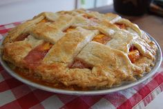 Peach Pie (noted for best pie crust recipe)