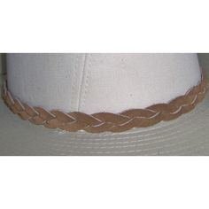 Braided Leather Hat-Band, One Piece Genuine Cowhide Leather with Waxed... (£17) ❤ liked on Polyvore featuring accessories