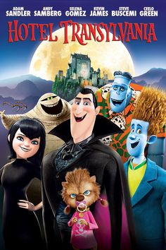 The whole gang at Hotel Transylvania - It was our first time on the big screen! #HotelT2 - in theaters September 25th
