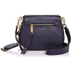 Marc Jacobs Recruit Nomad Small Leather Saddle Bag (24,085 INR) ❤ liked on Polyvore featuring bags, handbags, shoulder bags, leather saddle bag purse, leather shoulder bag, marc jacobs shoulder bag, genuine leather handbags and marc jacobs handbags