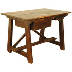 Painted Pinewood Work Table #robuck