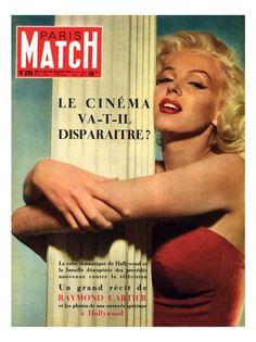 So beautiful in red - Marilyn Monroe for Paris Match Magazine #Marilyn_Monroe