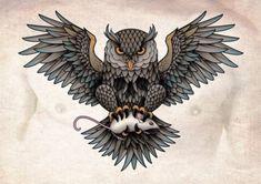 I designed this owl chest piece tattoo for Gerben Geeraerts Owl Skull Tattoo Owl Tattoo Chest, Chest Piece Tattoos, Pieces Tattoo, Buho Tattoo, Sea Tattoo, Tattoo Bird, Tattoo Old School, Owl Tattoo Design, Tattoo Designs
