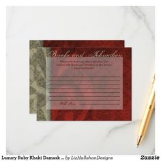 Check out Zazzle's wedding advice cards today. Choose from thousands of unique designs created by our talented team of independent designers. Wedding Advice Cards, Happy Marriage, Damask, Special Day, Wisdom, Writing, Luxury, Damascus, Damasks