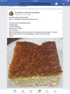 No crust keto custard cake Sugar Free choc pudding and whipping cream carbs in 1 Wonder if I can sub out the heavy whipping cream for nondairy. Eat Stop Eat Diet Plan to Lose Weight - - Image Diet Plan Eat Stop Eat - In Just One Day This Simple Strategy F Desserts Keto, Dessert Recipes, Breakfast Recipes, Keto Snacks, Breakfast Hash, Light Desserts, Breakfast Ideas, Dinner Recipes, Ketogenic Recipes