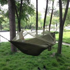 Enjoydeal Portable High Strength Parachute Fabric Hammock Hanging Bed With Mosquito Net For Outdoor Camping Travel (Army Green) Enjoydeal http://www.amazon.com/dp/B00FQBZ84Q/ref=cm_sw_r_pi_dp_XHm6ub1AQPWEF