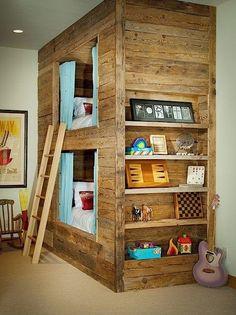 Recycling Coole Möbel Aus Alten Paletten Teil 2 Klonblog Rustikale Kinderzimmer Hochbetten