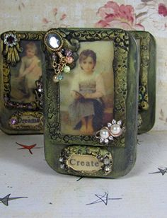 Altered Altoid Tin Create by ferrytalesgifts on Etsy polymer clay