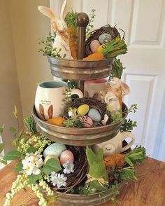 Sweet, creative and unique Easter decorating ideas You can give us ., Sweet, creative and unique Easter decorating ideas You can use the wreath all spring to give your home a very inviting look. Easter Crafts, Holiday Crafts, Holiday Decor, Bunny Crafts, Hoppy Easter, Easter Eggs, Easter Bunny, Easter Tree, Oster Dekor