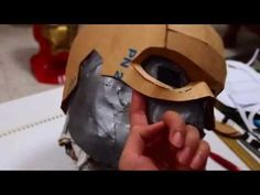 Captain America Cowl DIY - Cardboard & Hot Glue (template) [Can use craft foam instead of cardboard. Captain America Cosplay, Captain America Helmet, Diy Halloween Costumes, Halloween Cosplay, Costume Ideas, Cosplay Diy, Cosplay Costumes, Cosplay Ideas, Ideas Para Fiestas