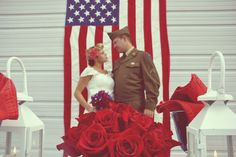 For a military bride or anyone who's feeling a bit patriotic, this one is for y'all!