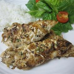 "Tender Onion Baked Chicken | ""Tender, tasty chicken breasts baked with butter, salt, pepper, and oniony seasoning. All ages like these - my 3 year old loves them! This can be served with mashed potatoes or with rice. Very tasty for the whole family."""