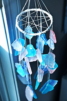Dreamcatcher wind chime. Perhaps to hang over the island like a chandelier.