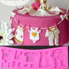 Lovely Baby Clothes Shaped Silicone DIY Chocolate Mold Fondant Cake Decor