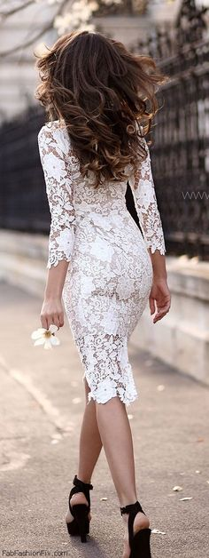 //Beautiful dress #fashion #lace #dress