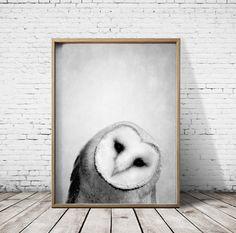 Oiseau chouette impression impression - Woodlands Estampe - Art mural de hibou - chouette affiche - hibou Art - imprimés - chouette Decor