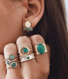 Aquamarine engagement ring vintage Rose Gold Tourmaline ring wedding Women simple Bridal Stacking Promise Anniversary Gift for her - Fine Jewelry Ideas Boho Jewelry, Wedding Jewelry, Jewelry Gifts, Jewelry Accessories, Fine Jewelry, Jewellery, Jewelry Ideas, Wedding Rings, Choker Jewelry