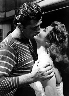 Robert Mitchum and Rita Hayworth in Fire Down Below, 1957