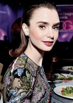 Lily Collins attends the 19th Costumers Designers Guild Awards in Beverly Hills on February 21. Pinned by @lilyriverside