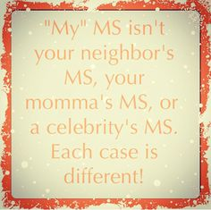 I wish more people understood this. Multiple Sclerosis Awareness #msawareness #curems