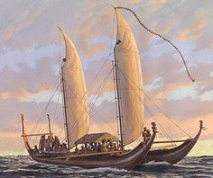 When the Polynesians made land anywhere. they first turned their boats over and lived under them until they could get huts built.