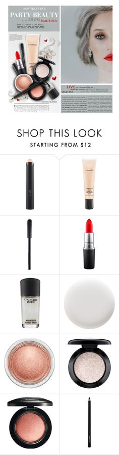 """""""New Year's Eve Party Beauty"""" by thewondersoffashion ❤ liked on Polyvore featuring beauty, MAC Cosmetics, Deborah Lippmann, Beauty, party, mac and nye"""