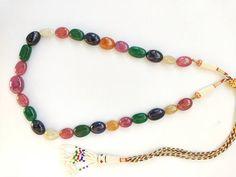 Gemstone Necklace, Beaded Necklace, Beaded Bracelets, Jewelry Shop, Jewelry Making, Multi Coloured Necklaces, Indian Jewelry, Unique Jewelry, Natural Ruby