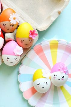 Osterbasteleien mit Kindern - 40 kreative Ideen paint Easter crafts with children Easter eggs Crafts To Do, Crafts For Kids, Children Crafts, Stick Crafts, Diy Crafts, Fall Crafts, Easter Egg Designs, Easter Ideas, Easter Traditions