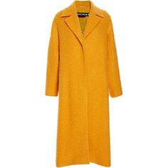 Rochas Light Casentino Wrap Coat ($2,368) ❤ liked on Polyvore featuring outerwear, coats, orange coat, wrap coat, long sleeve coat и rochas