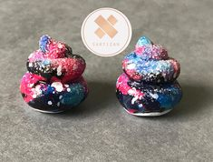 Who is a fan of Unicorn Poop? Glitter? Galaxy patterns? Then these are the perfect drop earrings for you! All those in one! 🦄  MADE TO ORDER. These earrings are made to order and they will take time to make once order has been processed. No two poops will be identical to another as they are