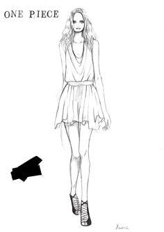 ファッションイラストレーター香織のブログ-ワンピースのデザイン画