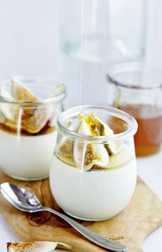 Cardamom Panna Cotta with Honeyed Figs | www.bellalimento.com