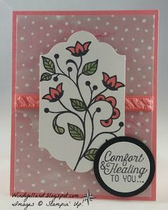 Windy's Wonderful Creations: #GDP039, Stampin' Up!, Flourishing Phrases, Lots of Labels, Fruit Stand DSP