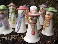 Snowman Factory - Jeanette Everson Handmade Ceramics Pepper Grinder, Snowman, December, Ceramics, Handmade, Products, Hall Pottery, Hand Made, Craft