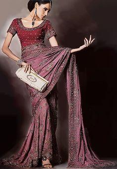 BW6803 Thulian Pink Lehenga Saree Latest Wedding Fashion in UK Latest Desi Wedding Dresses UK Bridal Wear