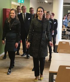 Crown Princess Mary of Denmark opened a new social and health school (Sopu-school) in Vesterbro,Copenhagen on April 15, 2015.