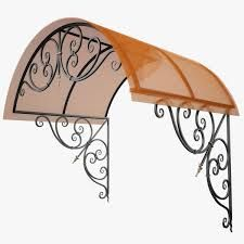 Image result for front door wrought iron awning